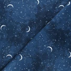 Tissu coton Dear Stella Brave enough to dream - Moon - marine x 10cm