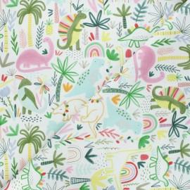 Dear Stella cotton fabric I'm rexy and I know it - white I'm rexy x 10cm