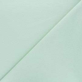 Plain french terry fabric - almond green x 10cm