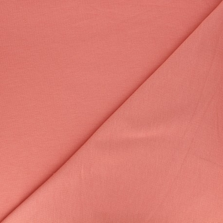Tissu jogging jersey léger corail x 10cm