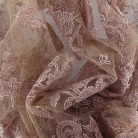 Tissu Dentelle Annabelle vieux rose x 10cm
