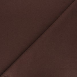 Plain french terry fabric - brown x 10cm