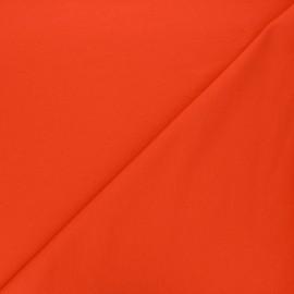 Plain french terry fabric - orange x 10cm