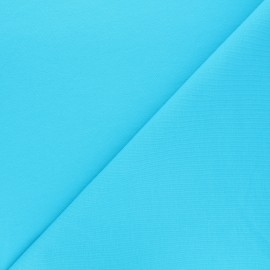 Plain french terry fabric - blue x 10cm