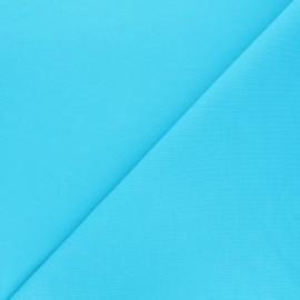 Tissu sweat léger Uni - bleu x 10cm