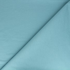 Plain french terry fabric - teal blue x 10cm