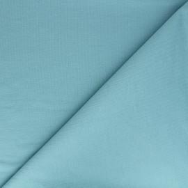 Tissu sweat léger Uni - bleu sarcelle x 10cm