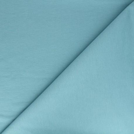 Tissu jogging jersey léger - bleu jean x 10cm