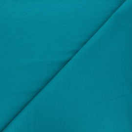 Tissu sweat léger Uni - bleu lagon x 10cm