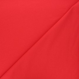 Plain french terry fabric - red x 10cm