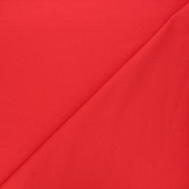 Tissu sweat léger Uni - rouge x 10cm
