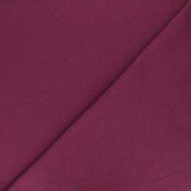 Tissu sweat léger Uni - prune x 10cm