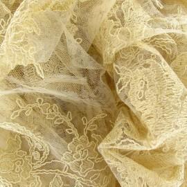 ♥ Coupon 220 cm X 130 cm ♥  Tissu Dentelle Annabelle sable