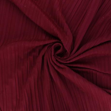 Pleated polyviscose jersey fabric - burgundy x 10 cm