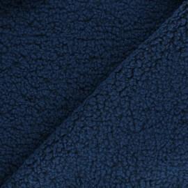 Tissu fourrure mouton Teddy - bleu x 10cm