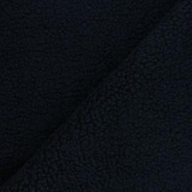 Sheep Fur fabric - navy blue Teddy x 10cm