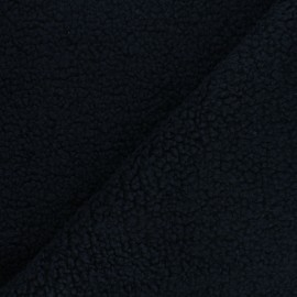 Tissu fourrure mouton Teddy - bleu marine x 10cm