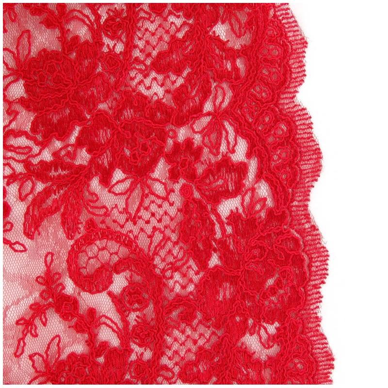 Tissu dentelle annabelle rouge carmin x 10cm ma petite mercerie - Tissu rouge pas cher ...