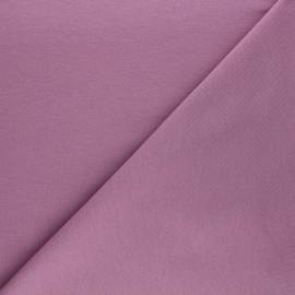 Tissu sweat léger Uni - parme x 10cm