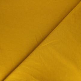 Plain french terry fabric - mustard yellow x 10cm
