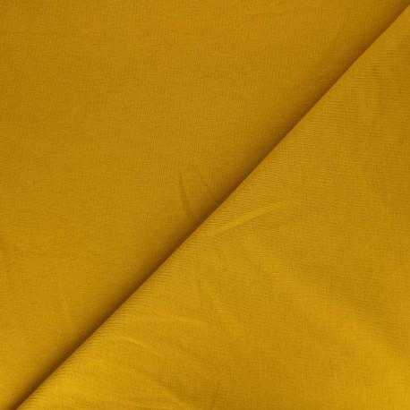 Tissu jogging jersey léger moutarde x 10cm