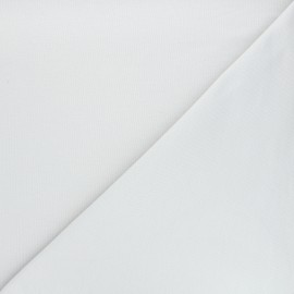 Plain french terry fabric - pearl grey x 10cm