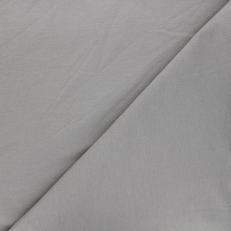 Plain french terry fabric - mouse grey x 10cm