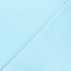 Tissu sweat léger Uni - bleu clair x 10cm