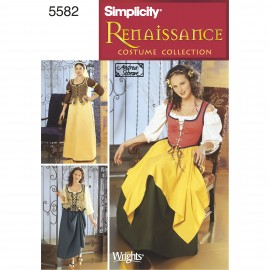 Medieval dress cosplay sewing Pattern - Simplicity n°1773