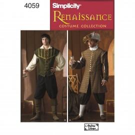Patron Déguisement homme Renaissance - Simplicity n°4059