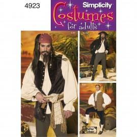 Patron Déguisement Pirate homme - Simplicity n°4923