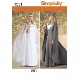 Patron Déguisement femme robe médiévale - Simplicity n°1551