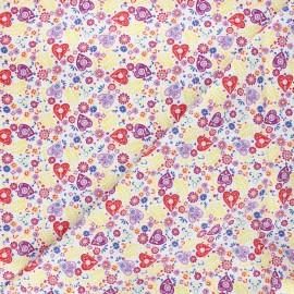 Tissu coton Eternally yours Paisley hearts - blanc x 10 cm
