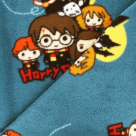 Harry Potter Fleece fabric - green Harry & co x 40cm