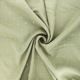 Lurex plumetis Viscose fabric - pink x 10cm