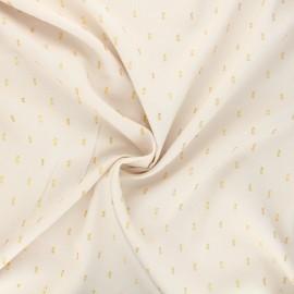 Lurex plumetis Viscose fabric - off-white x 10cm