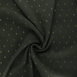 Tissu viscose plumetis lurex Léa - vert foncé x 10cm