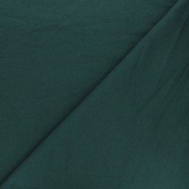 Plain french terry fabric - peacock green x 10cm