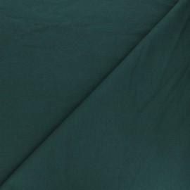 Tissu sweat léger Uni - vert paon x 10cm