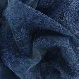 Annabelle Lace Fabric - Grey Blue x 10cm