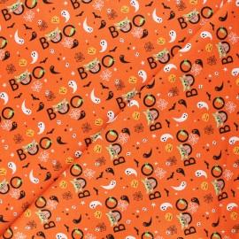 Tissu coton Halloween Star Wars Peekaboo - orange x 10 cm