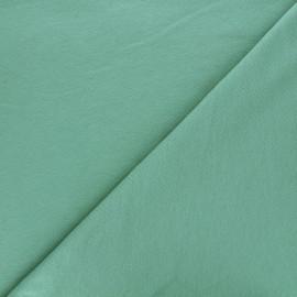 Plain french terry fabric - eucalyptus green x 10cm