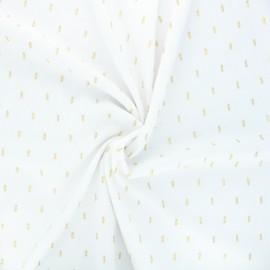 Tissu viscose plumetis lurex Léa - blanc  x 10cm