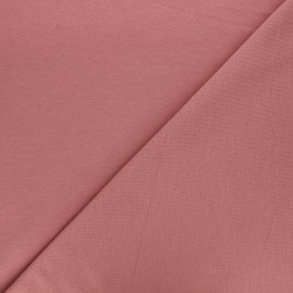 Plain french terry fabric - old pink x 10cm