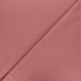 Tissu sweat léger Uni - vieux rose x 10cm