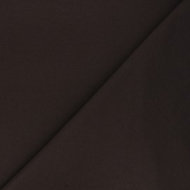 Plain french terry fabric - chocolate brown x 10cm
