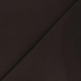 Tissu sweat léger Uni - chocolat x 10cm
