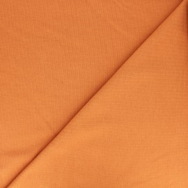 Plain french terry fabric - apricot x 10cm