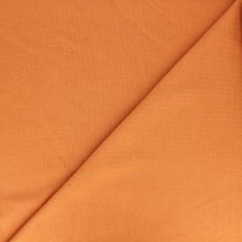 Tissu sweat léger Uni - abricot x 10cm