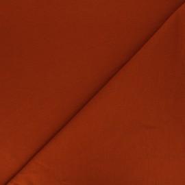 Plain french terry fabric - terracotta x 10cm